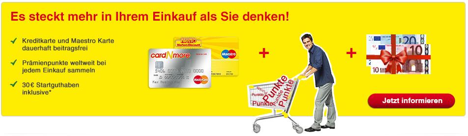 Kreditkarte kostenlos Guthaben und Prämie geschenkt