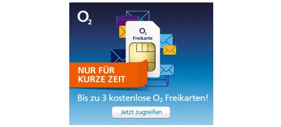 o2-Freikarte Gratisartikel absolut gratis bestellen