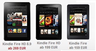 Amazon Kindle Fire HD reduziert billig