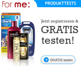 Produkttests bei For-Me jetzt anmelden