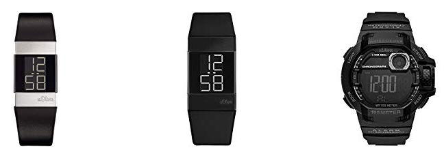 digitale Armbanduhren von s.Oliver