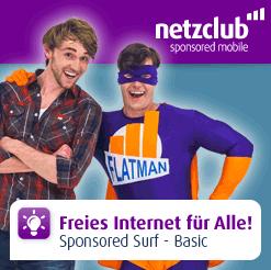 Kostenlos Surfen mobiles Internet gratis mit Netzclub