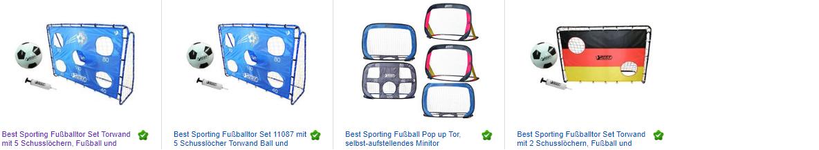 Zielschusswand mit Fußballtor & mehr, billige Angebote bei ebay.de