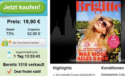 Brigitte Jahreabo sehr billig