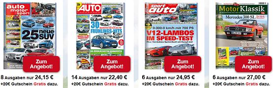 Auto Zeitschriften sehr günstig durch Gutschein