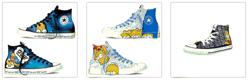Converse Sneaker mit Simpsons + All Stars
