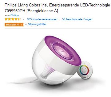 philips living colors iris f r 54 89 euro. Black Bedroom Furniture Sets. Home Design Ideas