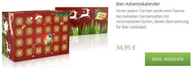 Bier-Adventskalender sehr günstig bestellen