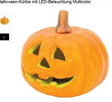 Halloween Kürbis elektronisch