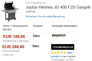 preisfehler bei amazon gasgrill hermes von justus. Black Bedroom Furniture Sets. Home Design Ideas