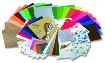 Bastelset f r weihnachtskarten bastel papier koffer von folia g nstig bei amazon - Weihnachtskarten amazon ...