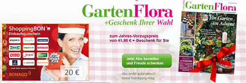 Gartenflora selbstk ndigendes jahresabo mit 20 gutscheinpr mie for Zeitschrift gartenflora