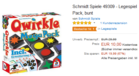 Qwirkle Mega Pack billig bei Amazon