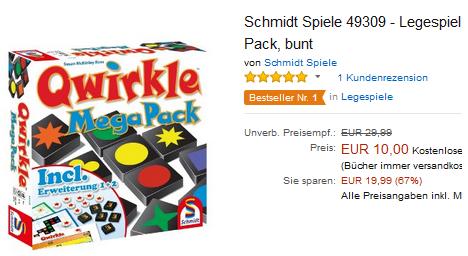 Qwirkle Mega Pack billig bei Amazon