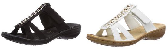 pantoletten sandalen 608r7 von rieker reduziert g nstig. Black Bedroom Furniture Sets. Home Design Ideas