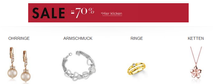 Schmuck Sale bei Amazon