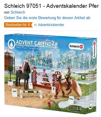 Schleich Adventskalender Pferde - Geschenkidee für Mädchen