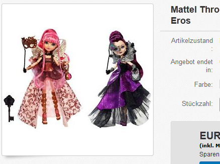 Ever After High: Thronecoming Puppen