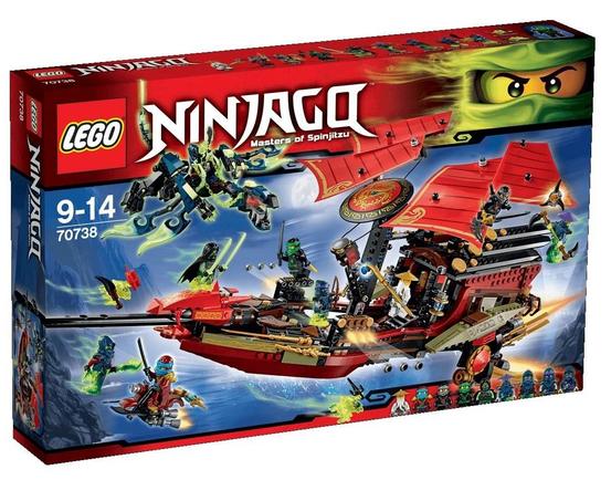 Ninjago der letzte Flug des Ninja-Flugseglers stark reduziert