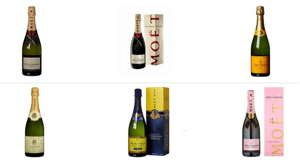 Champagner billig bei Amazon