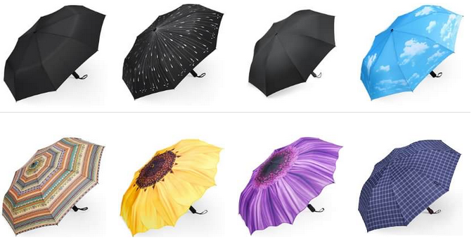 Plemo Regenschirm mit Motiv