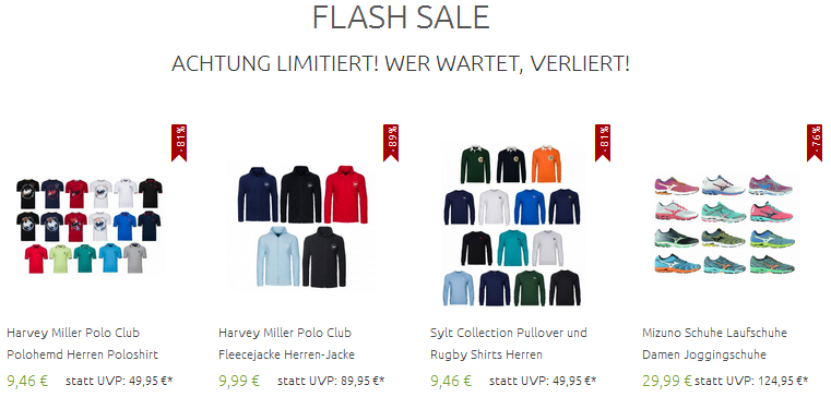 Flash Sale bei Outlet46