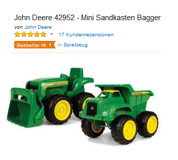 john deere sandkasten spielzeug bagger laster. Black Bedroom Furniture Sets. Home Design Ideas