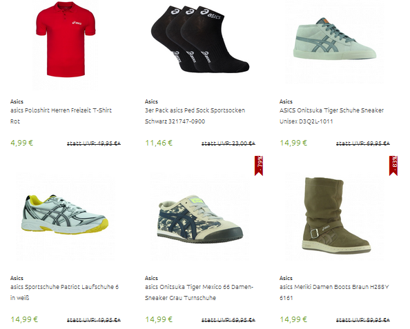 on sale 86d2e 94350 asics Schuhe & Kleidung reduziert im Outlet — Pfennigfuchs.com