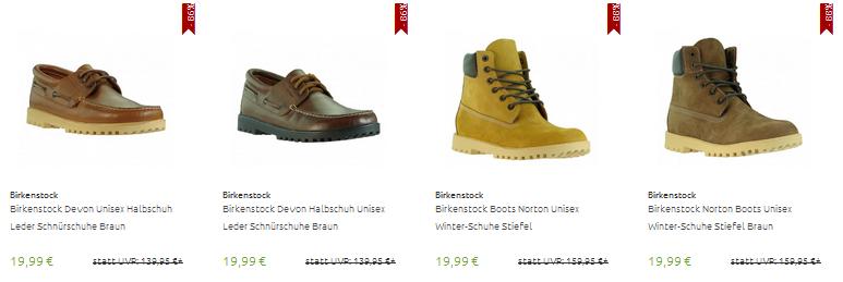 Birkenstock Schuhe für Männer & Frauen nur 19,99 Euro