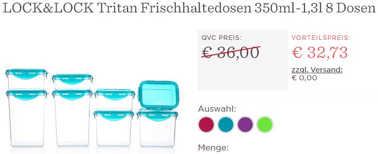 LOCK&LOCK Set: 8 Tritan Frischhaltedosen