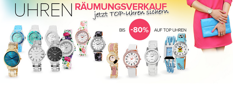Uhren-Rausverkauf bei Silvity