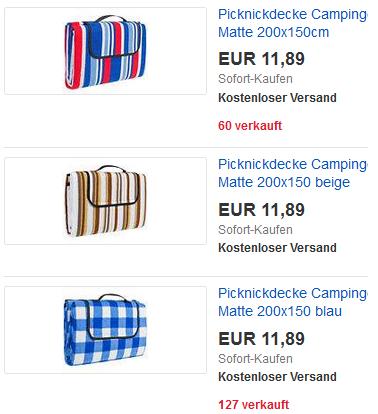 Decke für Picknick & Park von TecTake
