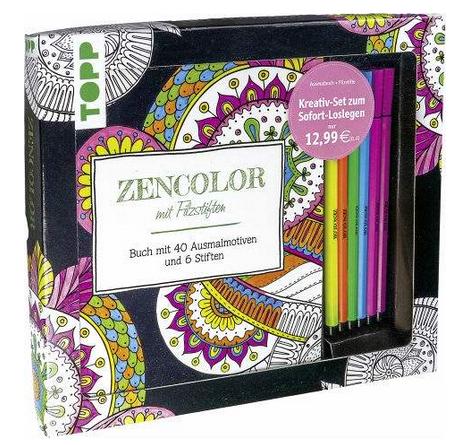 Kreativ-Set Zencolor: Malbuch für Erwachsene mit Stiften