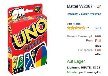 Uno Kartenspiel billig & versandkostenfrei