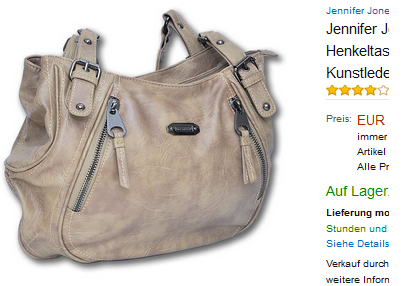 Jennifer Jones Henkeltasche billig bei Amazon