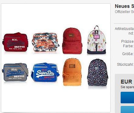 Superdry Tasche billig bei ebay
