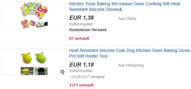 Topflappen als ebay-Gadget versandkostenfrei & richtig billig