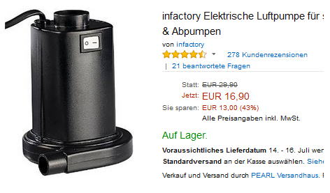 elektrische Luftpumpe von infactory