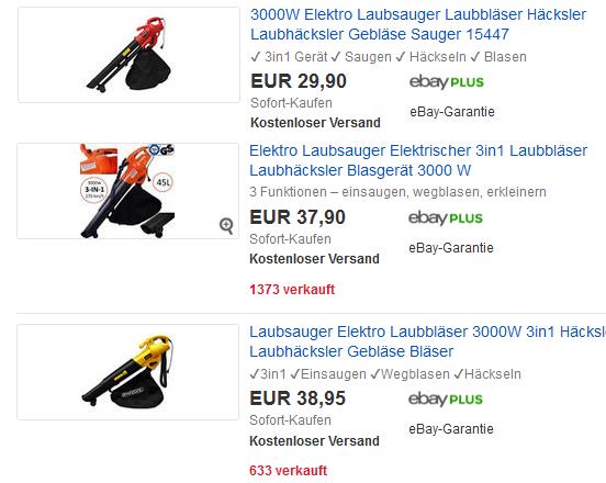 Laubsauger Laubbl Ser Mit 3000w Billig Bei Ebay