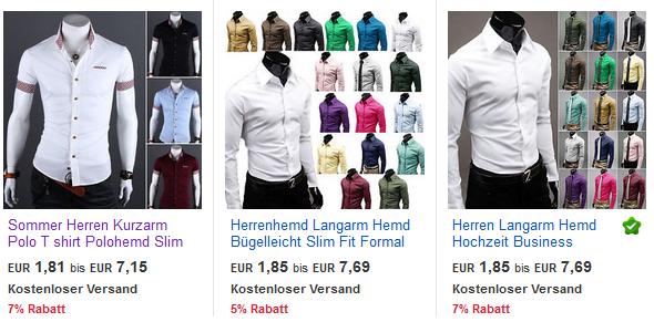 Herrenhemden extrem billig &  versandkostenfrei bei ebay