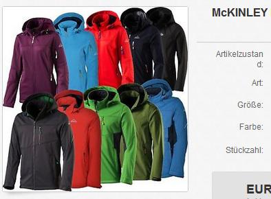 McKinley Übergangsjacken für Männer & Frauen 29,99 Euro