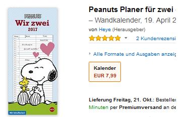 Peanuts & Snoopy Geschenkidee für Verliebte