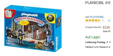 playmobil adventskalender 4168 polizeialarm nur 13 99 euro. Black Bedroom Furniture Sets. Home Design Ideas