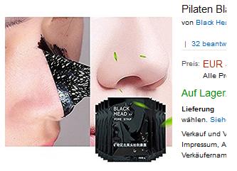 Gesichtsmaske Gegen Mitesser Pilaten Black Head Peel Off