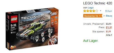 LEGO Technic 42065 schnell sein, reduziert