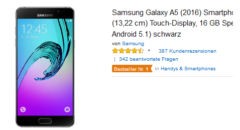Samsung Galaxy A5 reduziert bestellen