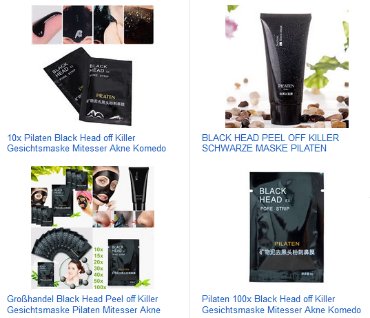 Black Head Gesichtsmasken von Pilaten billig, versandkostenfrei bei ebay
