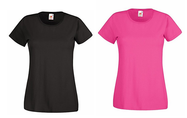 Damen-T-Shirt Fruit of the Loom Valueweight