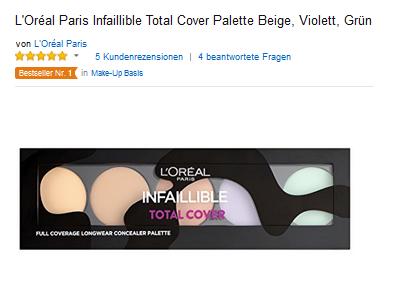 LOreal Paris Infaillible Total Cover Concealer Palette