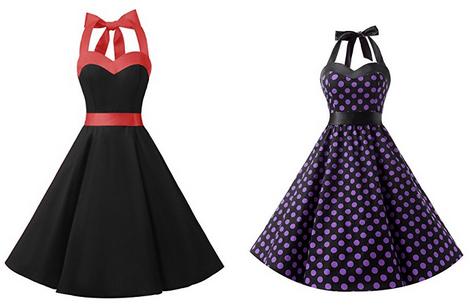 Neckholder-Kleid von Dresstells im 50er-Jahre-Stil
